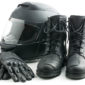 motorcycle gloves and boots