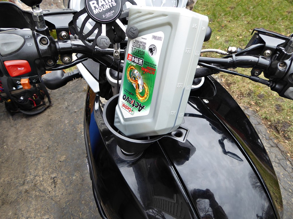 How to prepare your bike for storage Step 4: Change Oil