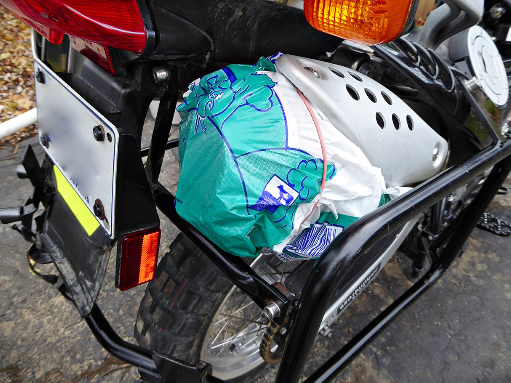 How to prepare your bike for storage Step 7: Covering the Exhaust