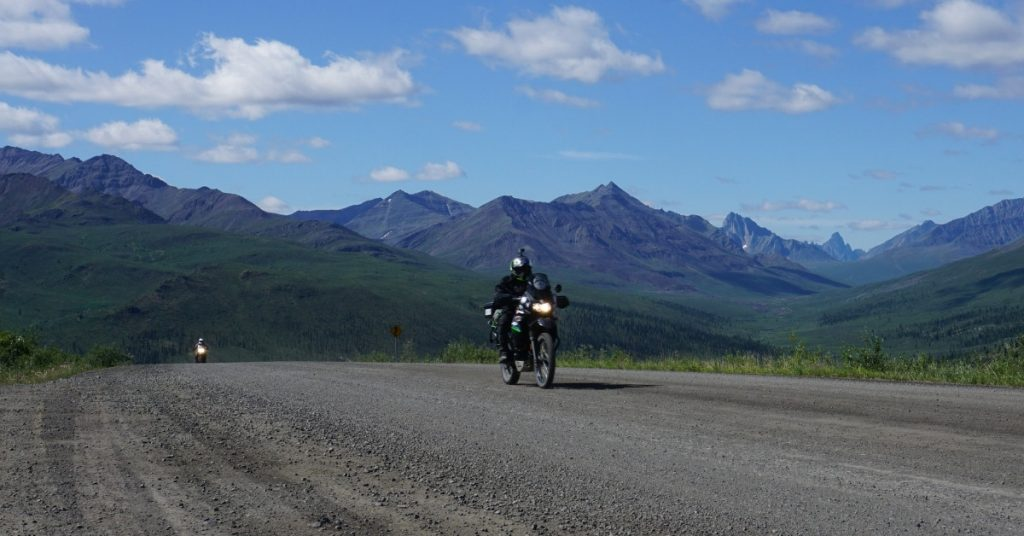 Rider on a multi-day motorcycle trip.