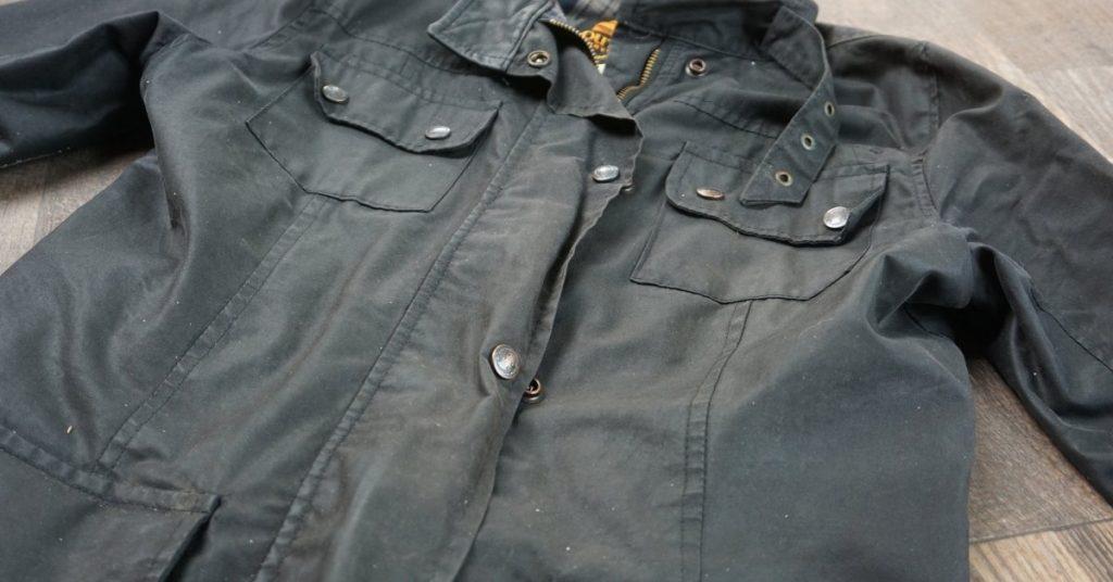 Waxed cotton jacket.